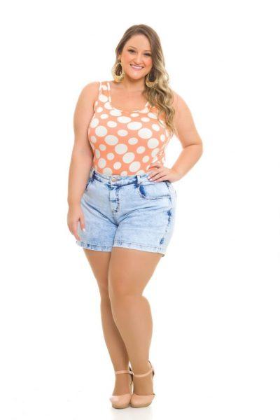 Blusa 272 Shorts Jeans 1019